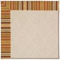 Capel Rugs Creative Concepts White Wicker - Vera Cruz Samba (735) Octagon 4