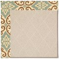 Capel Rugs Creative Concepts White Wicker - Shoreham Spray (410) Octagon 6
