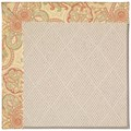 Capel Rugs Creative Concepts White Wicker - Paddock Shawl Persimmon (810) Octagon 6