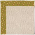 Capel Rugs Creative Concepts White Wicker - Bamboo Tea Leaf (236) Octagon 8