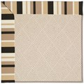 Capel Rugs Creative Concepts White Wicker - Granite Stripe (335) Octagon 8