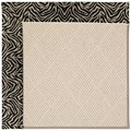 Capel Rugs Creative Concepts White Wicker - Wild Thing Onyx (396) Octagon 8