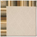 Capel Rugs Creative Concepts White Wicker - Kalani Coal (330) Octagon 10