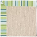 Capel Rugs Creative Concepts White Wicker - Capri Stripe Breeze (430) Octagon 10