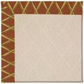 Capel Rugs Creative Concepts White Wicker - Bamboo Cinnamon (856) Octagon 10