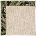 Capel Rugs Creative Concepts White Wicker - Bahamian Breeze Coal (325) Octagon 12