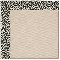 Capel Rugs Creative Concepts White Wicker - Coral Cascade Ebony (385) Octagon 12