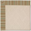 Capel Rugs Creative Concepts White Wicker - Dorsett Autumn (714) Octagon 12