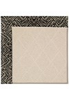 Capel Rugs Creative Concepts White Wicker - Wild Thing Onyx (396) Runner 2' 6
