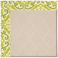 Capel Rugs Creative Concepts White Wicker - Shoreham Kiwi (220) Rectangle 3