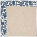 Capel Rugs Creative Concepts White Wicker - Batik Indigo Blue (415) Rectangle 4