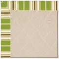 Capel Rugs Creative Concepts White Wicker - Tux Stripe Green (214) Rectangle 5