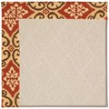 Capel Rugs Creative Concepts White Wicker - Shoreham Brick (800) Rectangle 6