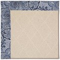 Capel Rugs Creative Concepts White Wicker - Paddock Shawl Indigo (475) Rectangle 7