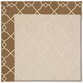 Capel Rugs Creative Concepts White Wicker - Arden Chocolate (746) Rectangle 7