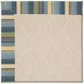 Capel Rugs Creative Concepts White Wicker - Kalani Ocean (417) Rectangle 8