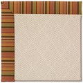 Capel Rugs Creative Concepts White Wicker - Tuscan Stripe Adobe (825) Rectangle 8