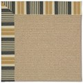 Capel Rugs Creative Concepts Sisal - Long Hill Ebony (340) Octagon 6