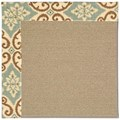 Capel Rugs Creative Concepts Sisal - Shoreham Spray (410) Octagon 6