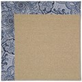 Capel Rugs Creative Concepts Sisal - Paddock Shawl Indigo (475) Rectangle 7