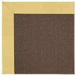 Capel Rugs Creative Concepts Java Sisal - Canvas Canary (137) Octagon 4' x 4' Area Rug