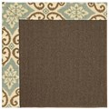 Capel Rugs Creative Concepts Java Sisal - Shoreham Spray (410) Octagon 6