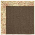 Capel Rugs Creative Concepts Java Sisal - Paddock Shawl Persimmon (810) Octagon 6