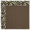 Capel Rugs Creative Concepts Java Sisal - Wild Thing Onyx (396) Octagon 8