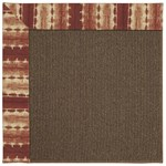 Capel Rugs Creative Concepts Java Sisal - Java Journey Henna (580) Rectangle 4' x 6' Area Rug