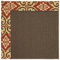 Capel Rugs Creative Concepts Java Sisal - Shoreham Brick (800) Rectangle 6