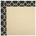 Capel Rugs Creative Concepts Beach Sisal - Arden Black (346) Octagon 8