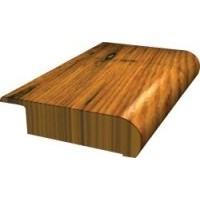 "Shaw Green Edge Epic:  Symphonic Red Oak Merlot Overlap Stair Nose - 78"" Long"
