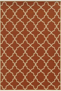 Shaw Living Inspired Design Chateau Garden (Brown) Rectangle 2'6