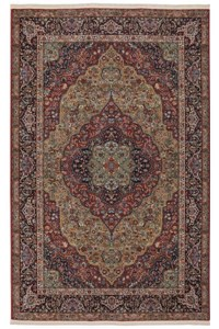 Nourison Collection Library Alexandria (AL04-RED) Rectangle 9'6