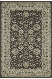 Nourison Collection Library Living Treasures (LI05-BLK) Round 7'10
