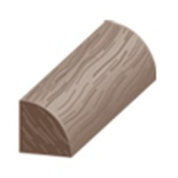 "Columbia Intuition with Uniclic: Quarter Round Cocoa Pecan - 84"" Long"