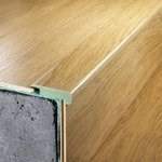 "Quick-Step Classic: Overlap Stair Nose Sienna Oak - 94.5"" Long"