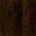 "Armstrong Artesian Hand-Tooled: Artesian Brunet 1/2"" x 4"", 5"" & 6"" Random Width Engineered Hickory Hardwood EMW6305Z"