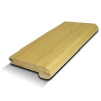 "CFS Premium Green Hand-Scraped Strand Woven Bamboo: Stair Nose Mamba - 72"" Long"