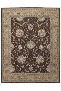 Capel Rugs Creative Concepts Cane Wicker - Coral Cascade Ebony (385) Octagon 4' x 4' Area Rug