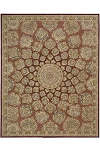 Capel Rugs Creative Concepts Cane Wicker - Tux Stripe Green (214) Octagon 10' x 10' Area Rug