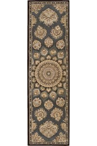 Capel Rugs Creative Concepts Cane Wicker - Canvas Black (314) Octagon 10' x 10' Area Rug