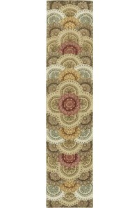 Capel Rugs Creative Concepts Cane Wicker - Coral Cascade Navy (450) Octagon 10' x 10' Area Rug
