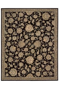 Capel Rugs Creative Concepts Cane Wicker - Sidewalk Lacquer-Ebony (920) Octagon 10' x 10' Area Rug