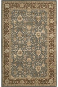 Capel Rugs Creative Concepts Cane Wicker - Canvas Sapphire Blue (487) Octagon 12' x 12' Area Rug