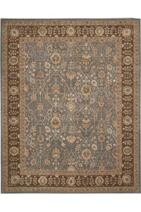 Capel Rugs Creative Concepts Cane Wicker - Canvas Navy (497) Octagon 12' x 12' Area Rug