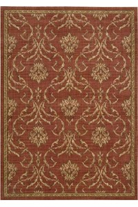 Capel Rugs Creative Concepts Cane Wicker - Canvas Persimmon (847) Rectangle 4' x 4' Area Rug