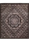 Capel Rugs Creative Concepts Cane Wicker - Canvas Sun Tile (612) Rectangle 4' x 6' Area Rug