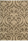 Capel Rugs Creative Concepts Cane Wicker - Tuscan Vine Adobe (830) Rectangle 5' x 8' Area Rug