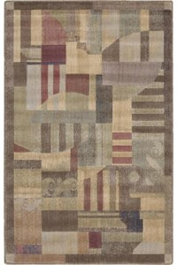 Capel Rugs Creative Concepts Cane Wicker - Tux Stripe Green (214) Rectangle 12' x 12' Area Rug